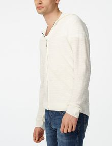 ARMANI EXCHANGE Variegated Linen Hoodie Zip-up Man d