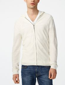 ARMANI EXCHANGE Variegated Linen Hoodie Zip-up Man f