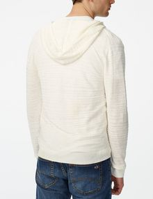 ARMANI EXCHANGE Variegated Linen Hoodie Zip-up Man r