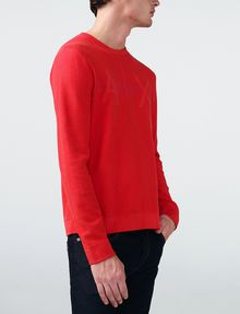 ARMANI EXCHANGE Tonal Stripe Logo Crew Crew Neck [*** pickupInStoreShippingNotGuaranteed_info ***] d