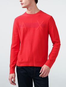 ARMANI EXCHANGE Tonal Stripe Logo Crew Crew Neck [*** pickupInStoreShippingNotGuaranteed_info ***] f