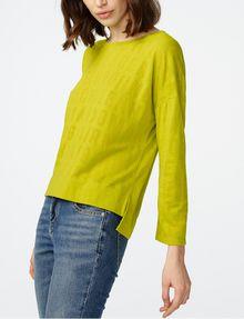 ARMANI EXCHANGE Burnout Logo Sweatshirt Top Sweatshirt D d