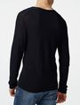 ARMANI EXCHANGE Long-Sleeve Pyramid Stitch V-Neck V-Neck U r