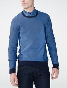 ARMANI EXCHANGE Bicolor Stitch Crew Crew Neck Man f