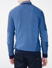 ARMANI EXCHANGE Bicolor Stitch Crew Crew Neck U r