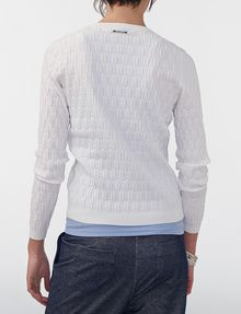 ARMANI EXCHANGE Basketweave Textured Crew Crew Neck D r