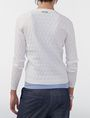 ARMANI EXCHANGE Basketweave Textured Crew Crew Neck Woman r