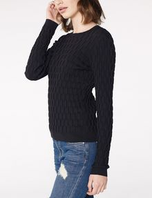 ARMANI EXCHANGE Basketweave Textured Crew Crew Neck Woman d