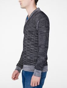 ARMANI EXCHANGE Space-Dye Shawl Collar Sweater V-Neck U d