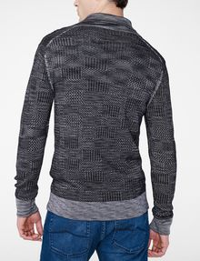 ARMANI EXCHANGE Space-Dye Shawl Collar Sweater V-Neck U r