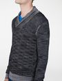 ARMANI EXCHANGE Space-Dye Shawl Collar Sweater V-Neck Man e