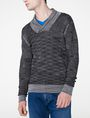 ARMANI EXCHANGE Space-Dye Shawl Collar Sweater V-Neck Man f