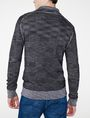 ARMANI EXCHANGE Space-Dye Shawl Collar Sweater V-Neck Man r