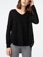 ARMANI EXCHANGE Textured Linen Pullover V-Neck D f