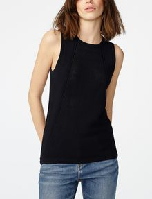 ARMANI EXCHANGE Multi-Stitch Sweater Tank Tank top Woman f
