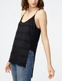 ARMANI EXCHANGE Mesh High-Low Cami Cami D d