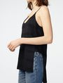 ARMANI EXCHANGE Mesh High-Low Cami Cami Woman e