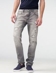 ARMANI EXCHANGE Distressed Grey Slim-Fit Jean Slim Fit Denim U f