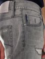 ARMANI EXCHANGE Distressed Grey Slim-Fit Jean Slim Fit Denim U e