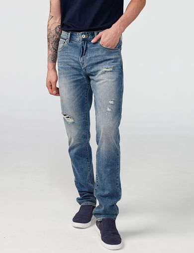 ARMANI EXCHANGE Distressed Slim-Fit Jean Man front