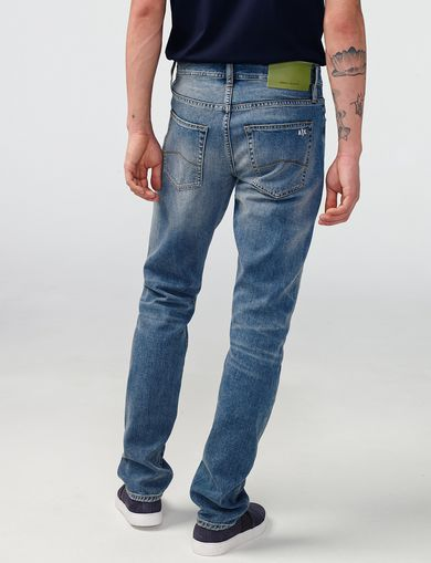 ARMANI EXCHANGE Distressed Slim-Fit Jean Man retro