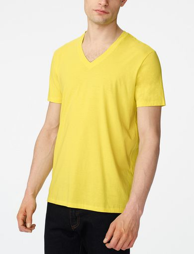 ARMANI EXCHANGE Pima V-Neck Tee Man front