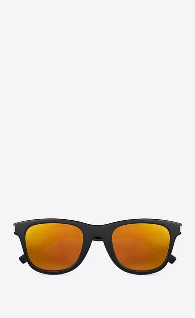 SAINT LAURENT CLASSIC E occhiali da sole classic sl 51 neri in acetato lucido con lenti dorate a_V4