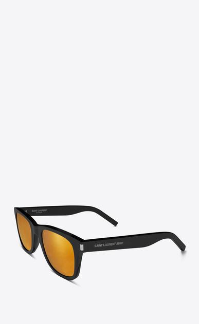 SAINT LAURENT CLASSIC E klassische sl 51 surf sonnenbrille mit glänzend schwarzem acetat-gestell und goldfarbenen gläsern b_V4