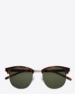 SAINT LAURENT Sunglasses E クラシック sl 108 サングラス(シャイニーライトハバナ/アセテート製/グリーンレンズ) f