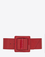 CARRÉE SAINT LAURENT Buckle Corset Belt in Red Patent Leather