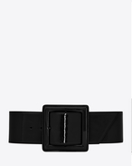 CARRÉE SAINT LAURENT Buckle Corset Belt in Black Patent Leather
