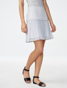 ARMANI EXCHANGE Two-Tier Pleated Miniskirt Skirt D f