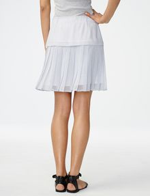 ARMANI EXCHANGE Two-Tier Pleated Miniskirt Skirt D r