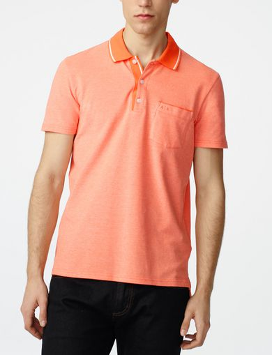 ARMANI EXCHANGE Bicolor Pique Pocket Polo Man front