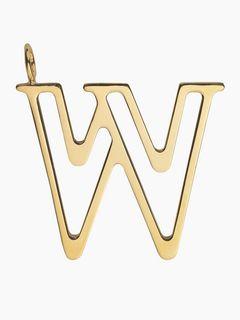 Alphabet bag pendant<span>W - Alphabet bag pendant</span>