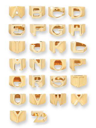 ブラスの「Alphabet」リング B