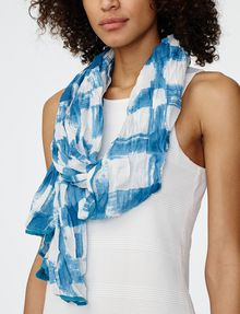 ARMANI EXCHANGE Painted Plaid Scarf Scarf D d