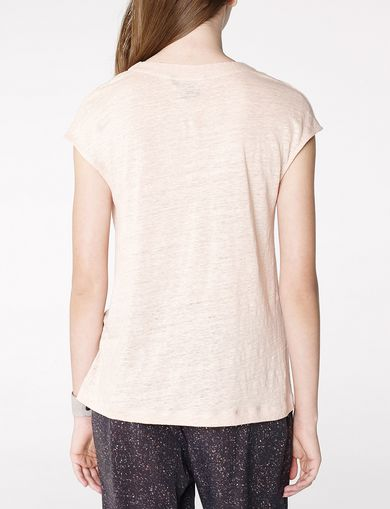 ARMANI EXCHANGE Linen Cap-Sleeve Top Woman retro