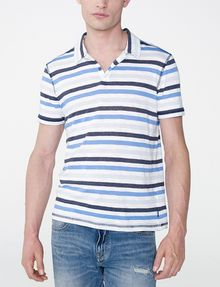 ARMANI EXCHANGE Modern Stripe Polo Shirt Short-sleeved polo U f