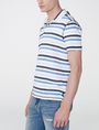 ARMANI EXCHANGE Modern Stripe Polo Shirt Short-sleeved polo U d