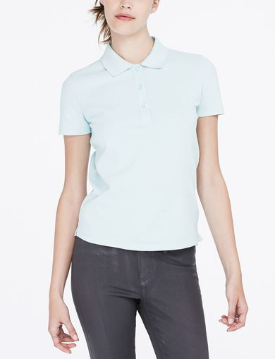 ARMANI EXCHANGE Pique Logo Polo Woman front