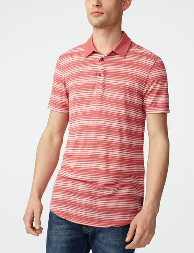 ARMANI EXCHANGE Multi-Stripe Polo  Man front