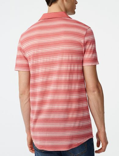 ARMANI EXCHANGE Multi-Stripe Polo  Man retro