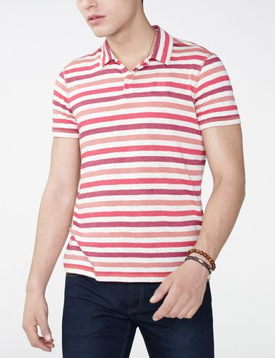 ARMANI EXCHANGE Modern Stripe Polo Shirt Man front