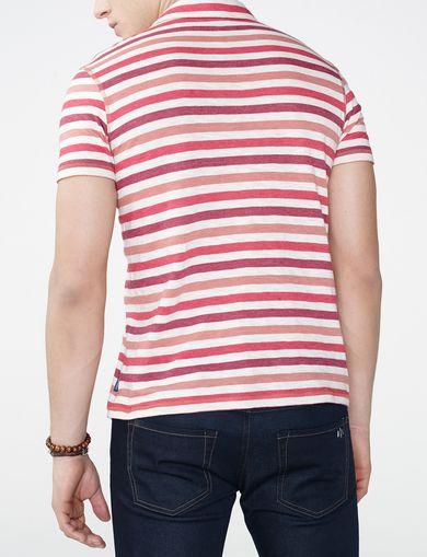 ARMANI EXCHANGE Modern Stripe Polo Shirt Man retro