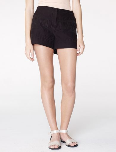 ARMANI EXCHANGE Textured Stripe Short Woman front