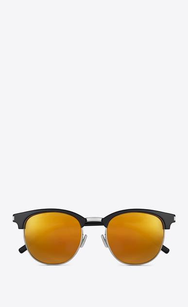 SAINT LAURENT CLASSIC E occhiali da sole classic sl 108 neri in acetato lucido con lenti dorate a specchio a_V4