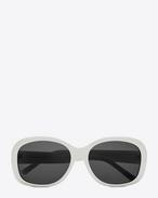 Occhiali da sole NEW WAVE 119 MEL color avorio lucidi in acetato con lenti fumé