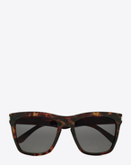 NEW WAVE DEVON Sunglasses in Shiny Dark Havana Acetate with Grey Lenses