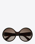 lunettes de soleil monogram 1 à monture en acétate or et havane foncé brillant, agrémentées de verres dégradés bruns